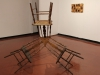 Art piece Stacking Chairs at the Boehm Gallery on April 5. Belen De Anda / The Telescope