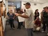 Ken Minasian speaks at the art show at the Boehm Gallery on April 5. Belen De Anda / The Telescope