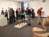 Art spectators at the Boehm Gallery on April 5. Belen De Anda / The Telescope