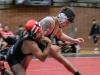 Palomar's Zack Moistner, right, resists Andrew Longmire's attempts to take him down during the Comets' match against the Santa Ana Dons, on Nov. 8 at the Dome. Moistner won by 12-3 major decision . Scott Engrav / The Telescope