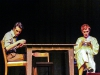 Tom (right, performed by Sean LaRocca) and his mother Amanda (right, performed by Heidi Bridges) sit at the same table although worlds apart in The Glass Menagerie playing at Palomar College. Lucas Spenser/Telescope.
