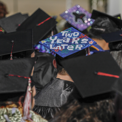 Palomar students listen to guest speakers during Commencement Ceremony held Saturday May 16 at the San Marcos campus. Philip Farry/The Telescope