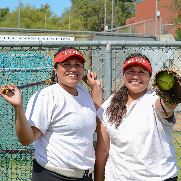 Palomar College's Softball twin sisters Taylour and Trinity Fa'asua. Tracy Grassel/The Telescope