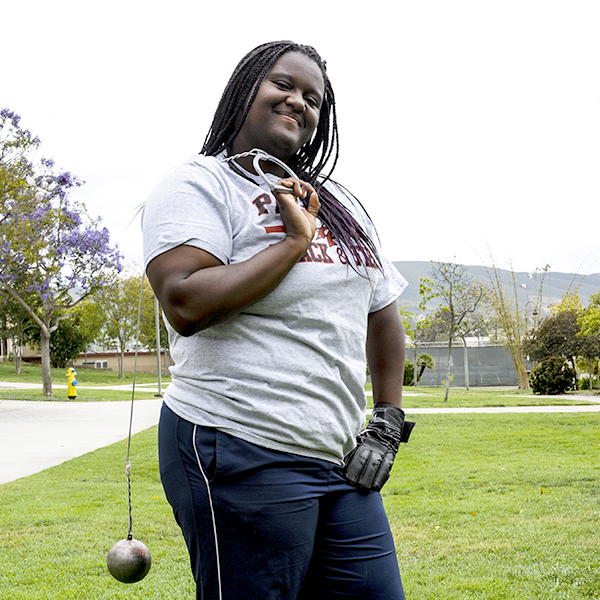 Palomar sophomore Student De'Ondra Young signs a National Letter of Intent to attend Cal State Long Beach, taking with her a career best of 167 feet, 7 inches in the hammer throw. During the 2015 season Young also was the Pacific Coast Athletic Conference Field Athlete as well as the Southern California Community College finalist placing second in both the hammer throw and shot put. During the CCCAA State Championships in San Mateo She placed ninth in the shot put. One of Young's career goal is to become a Clinical phycologist. April 5. Johnny Jones /The Telescope