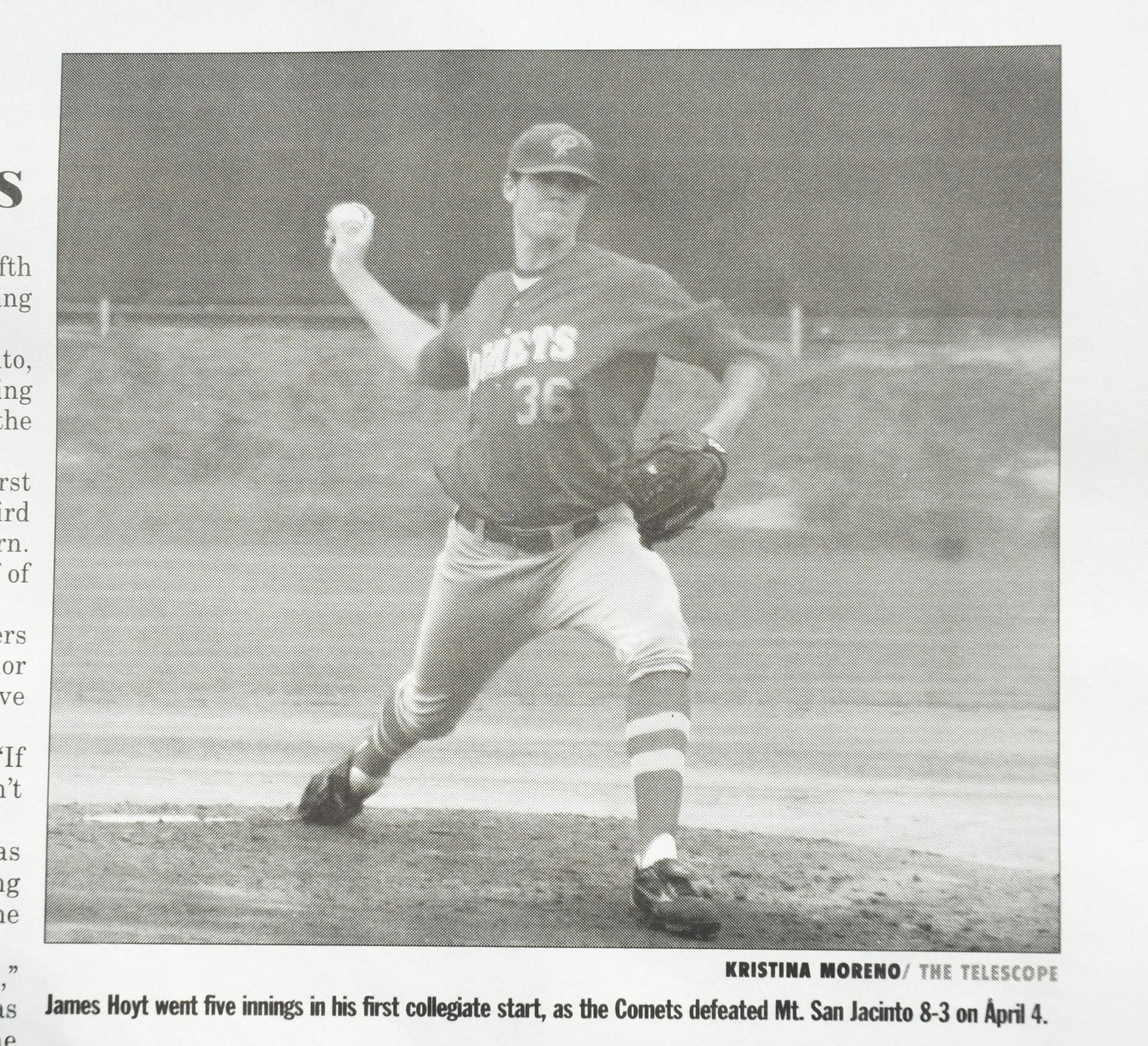 Palomar College Baseball Alum James Hoyt April 4, 2007 now pitcher for the Houston Astros.