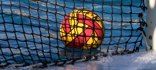 Water polo ball after scoring a point.