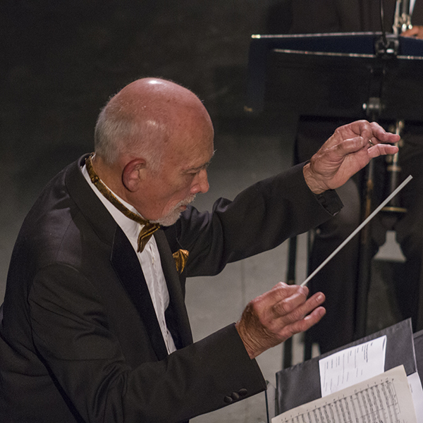Kenneth Bell conducts the main theme from Star Trek the Motion Picture during Space, Time and Music at Palomar College's Brubeck Theater, May 6. -Savhanna Vargas/The Telescope