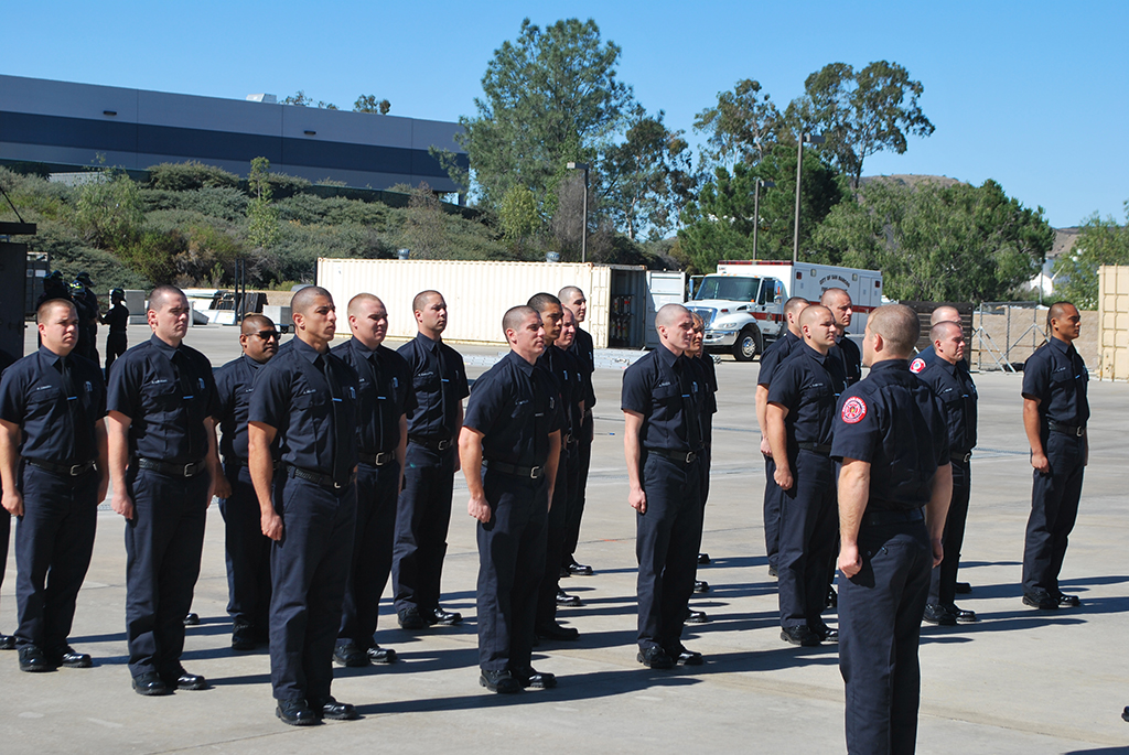 Fire Academy cadets await instructions from instructor. Feb 7, Fire Academy 182 Santars Place. Linus Smith/ The Telescope