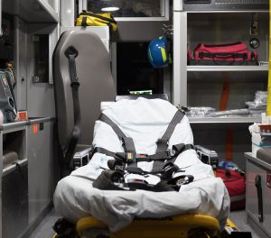 The back of an ambulance. Feb. 25. Meer/The Telescope