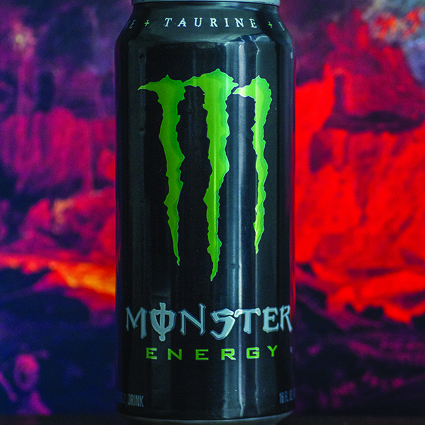 Photo illustration of Monster Energy by Savhanna Vargas/The Telescope