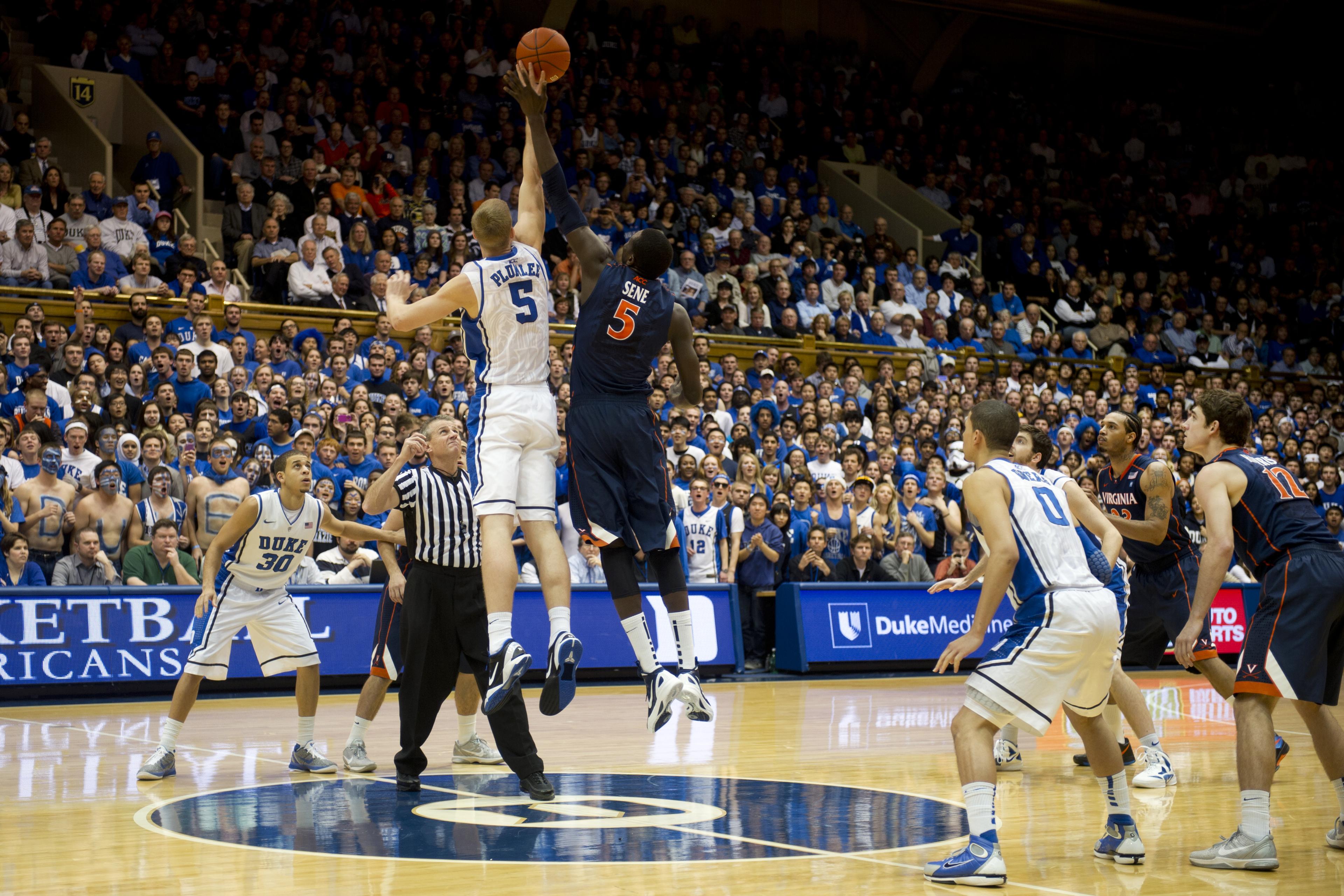 Tip-off between Duke and University of Virginia