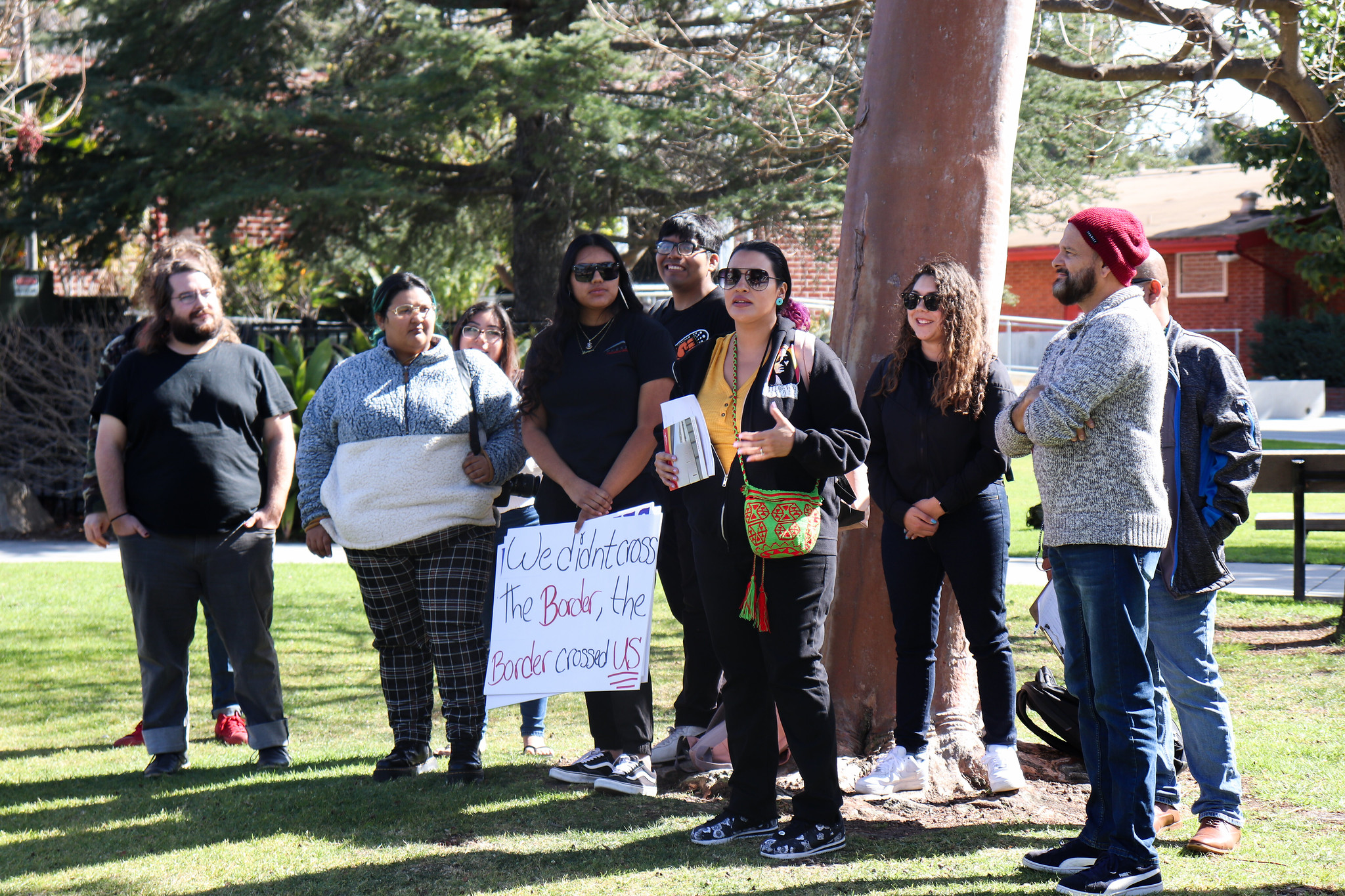 Students stage protest over Border patrol career event