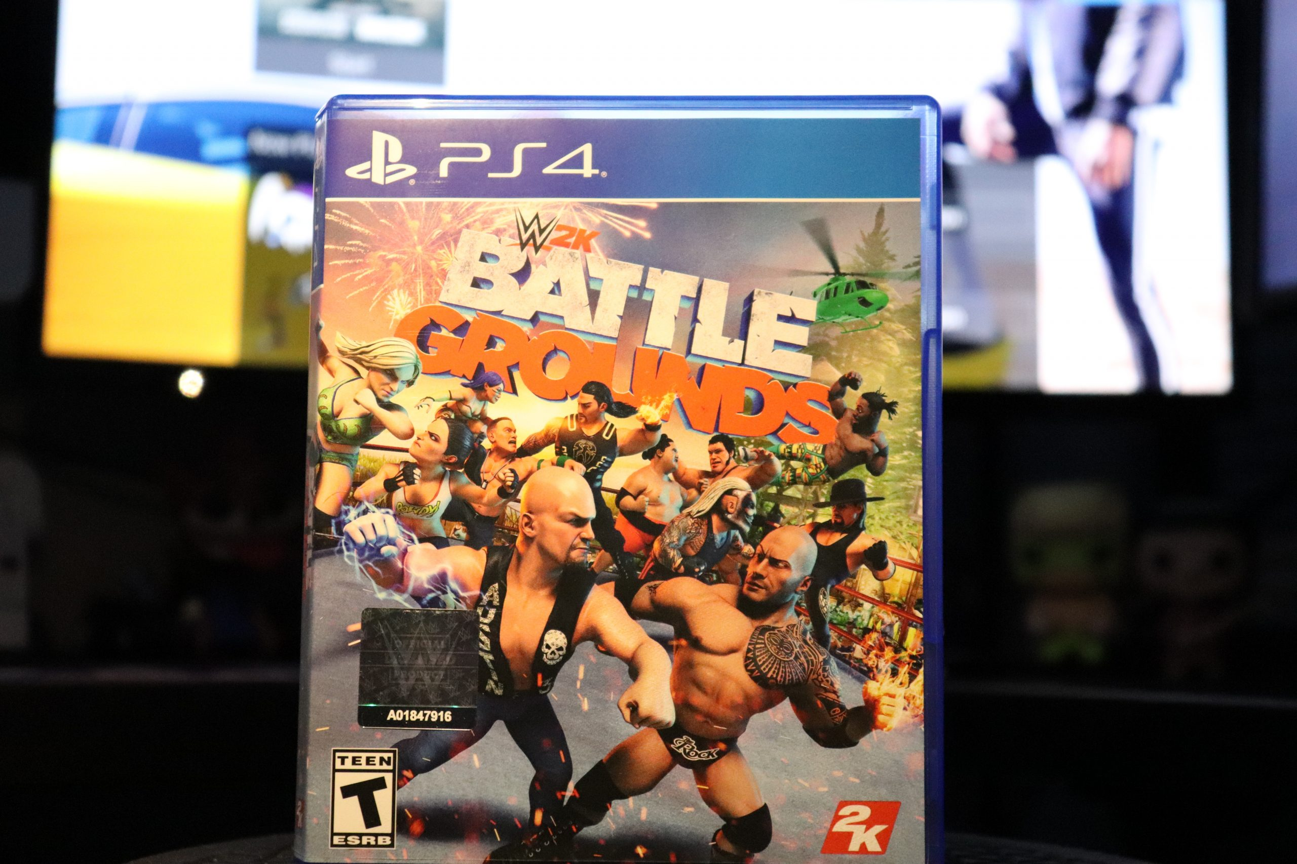 "Picture of the physical copy of ""WWE 2K BattleGrounds"""