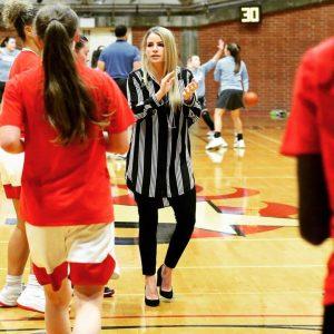 Coach Leigh Marshall of the Palomar Women's Basketball Team