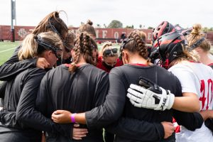 13 February 2021: The San Diego State women's Lacrosse team opened up its season with a 20-6 loss to USC Saturday afternoon at the Aztec Lacrosse Field.(Credit: Derrick Tuskan/San Diego State) More game action at sdsuaztecphotos.com