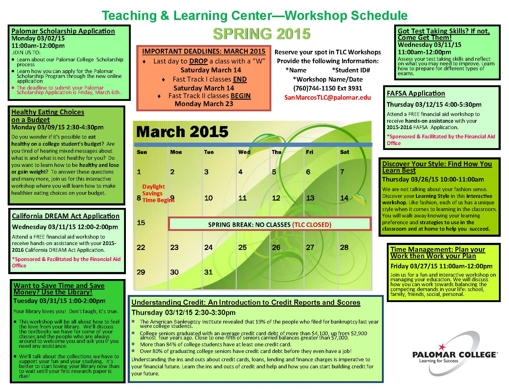 SP2015_TLC Workshop Schedule_March