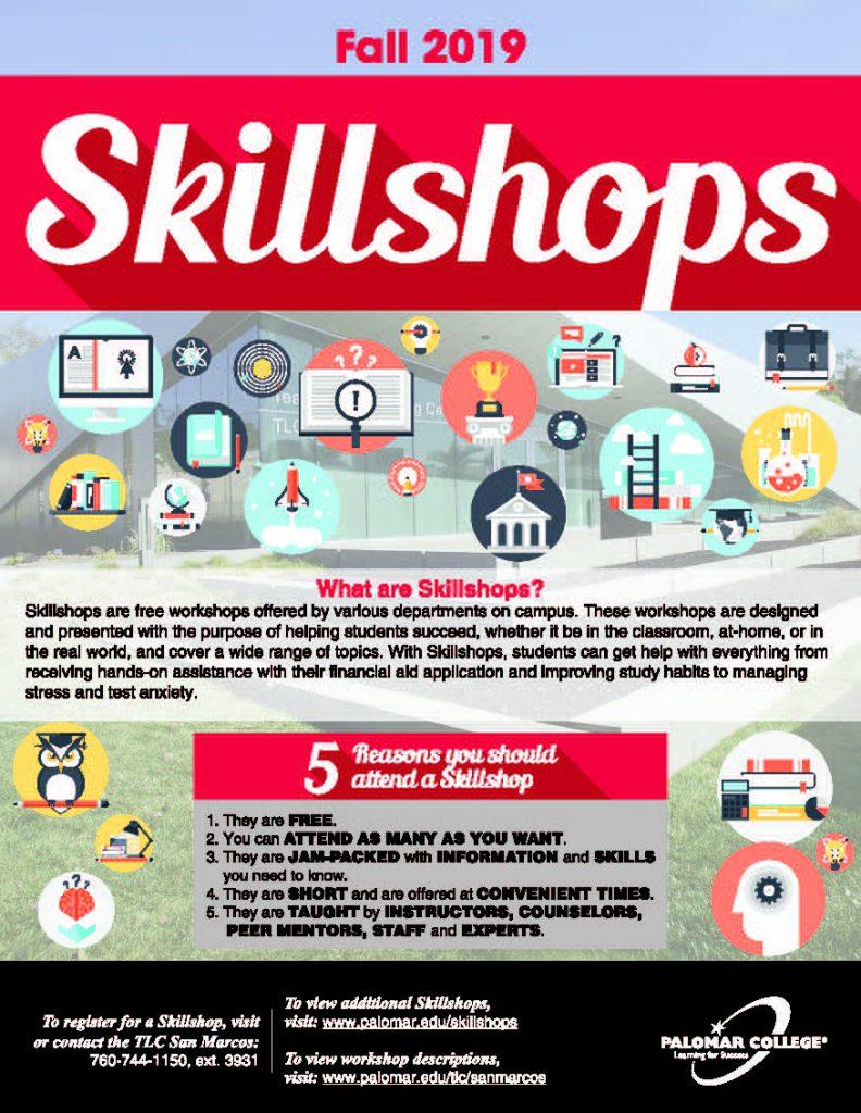 Skillshops pamphlet cover