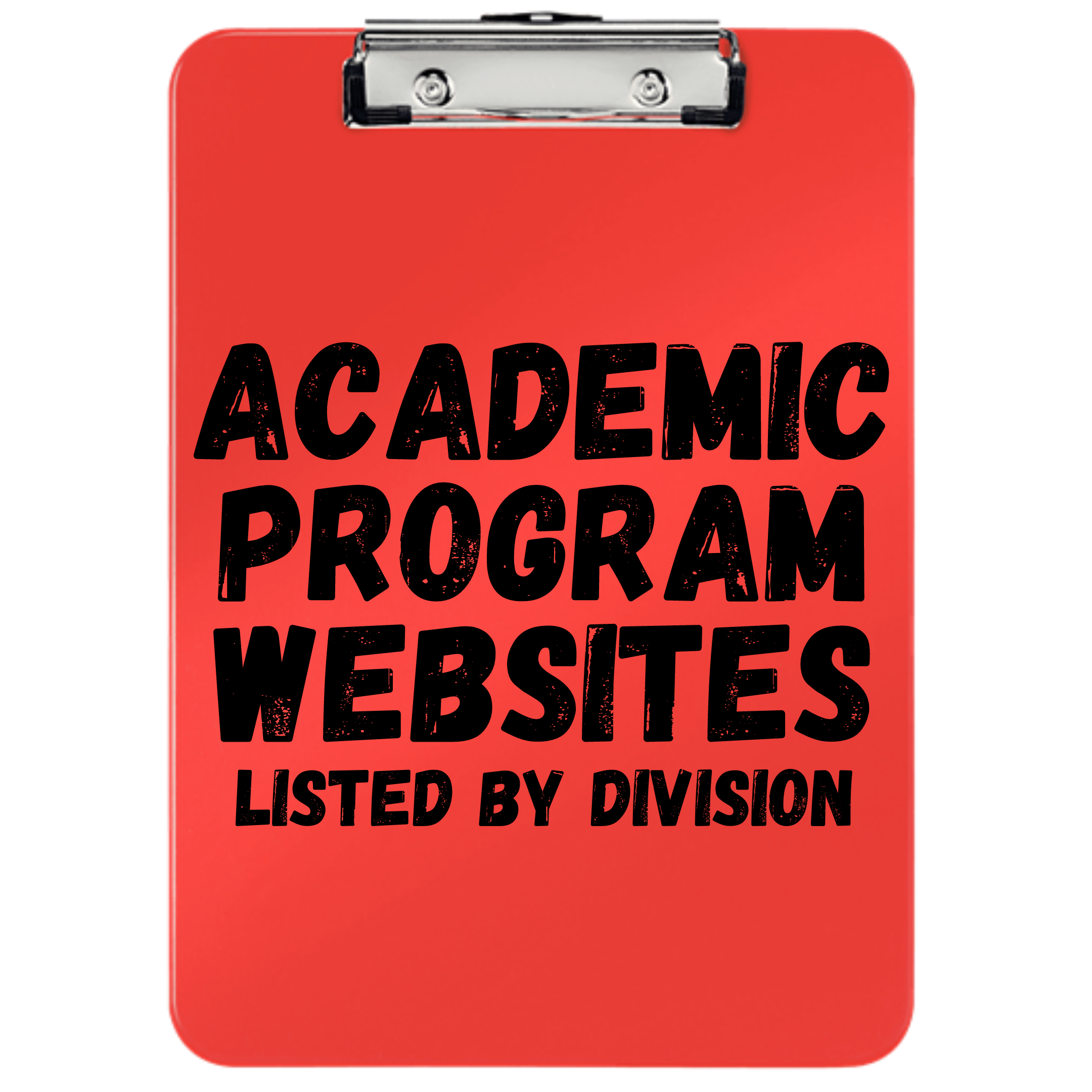 Academic Program Websites by Division